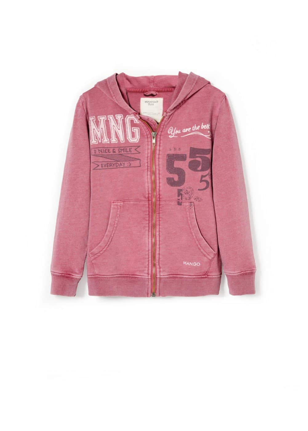 Sudadera estampada college | MANGO KIDS