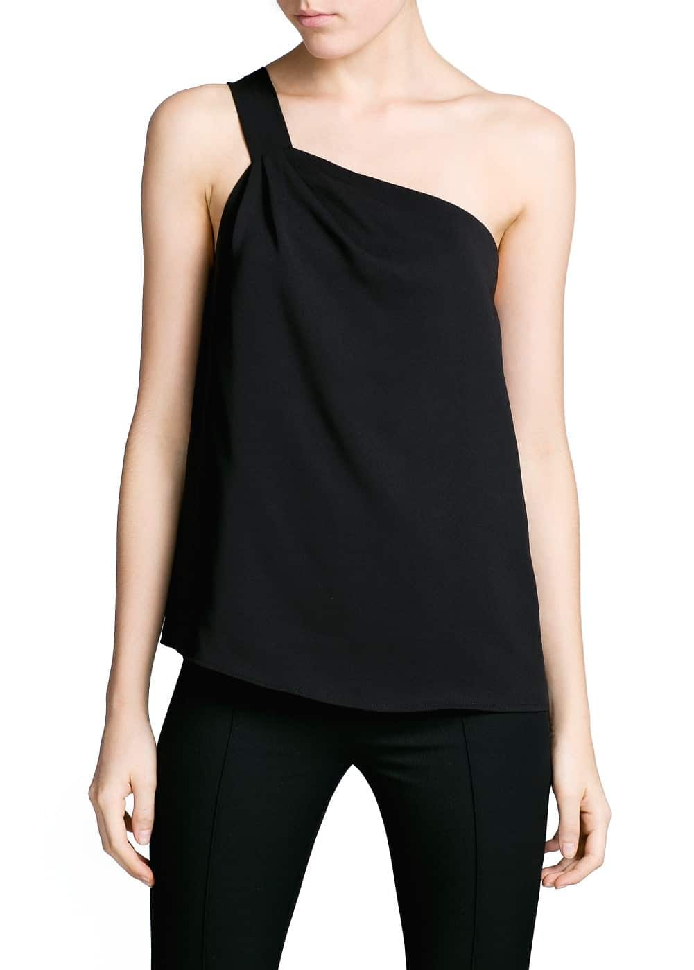 Draped asymmetric top | MANGO