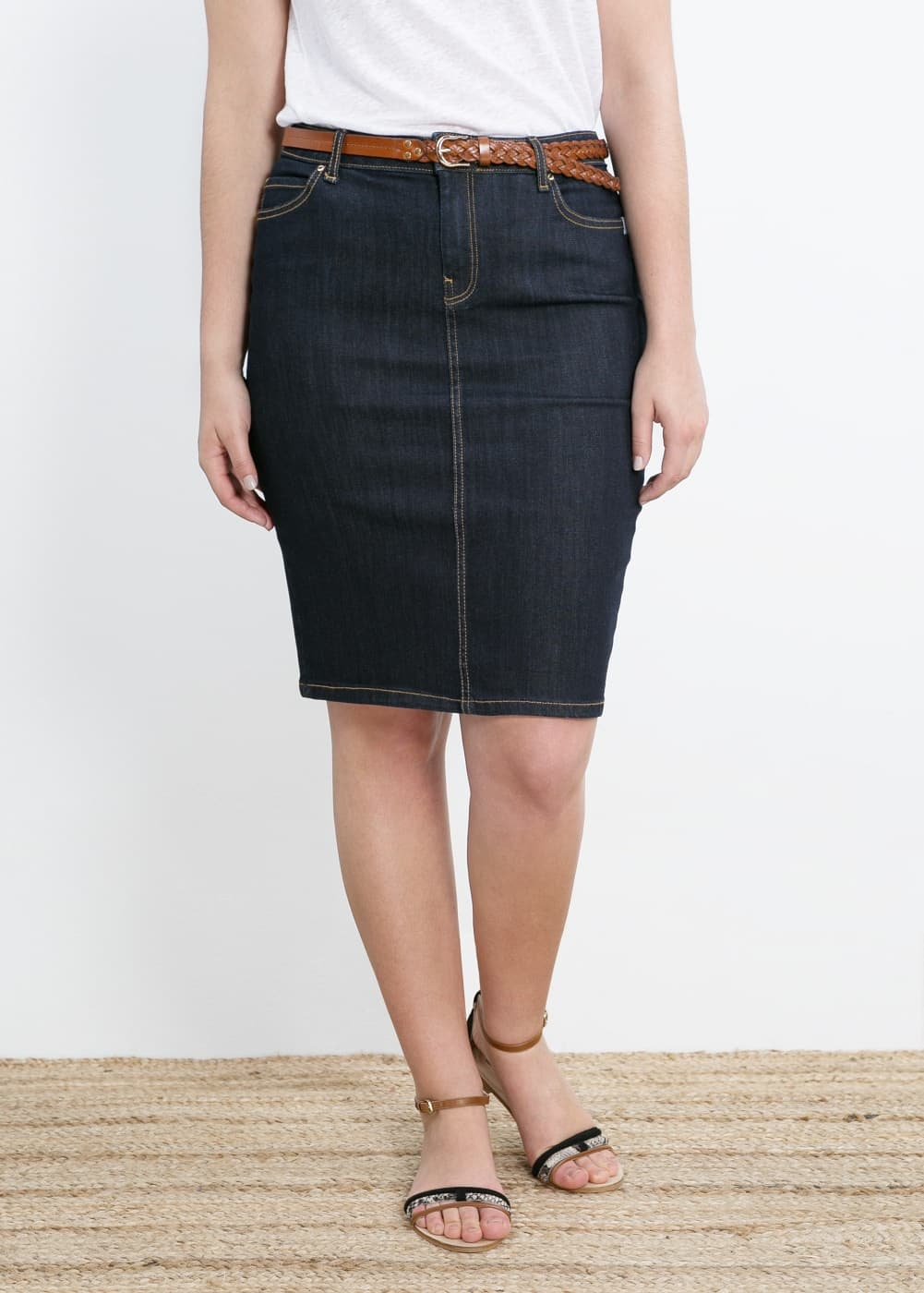 Dark denim skirt | MANGO