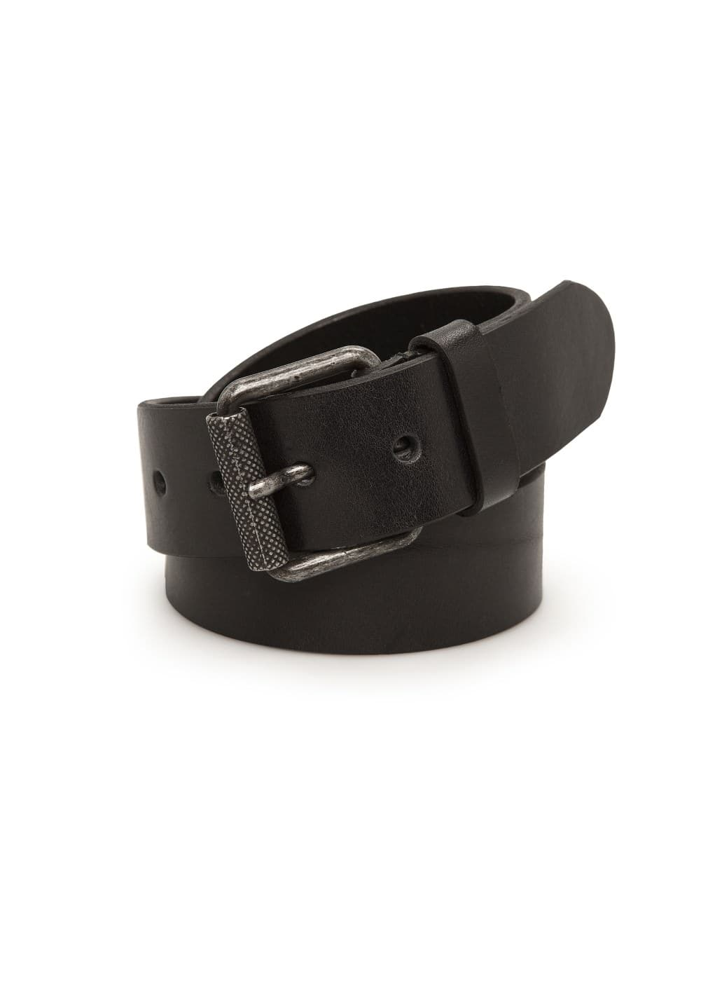Metal buckle leather belt | MANGO