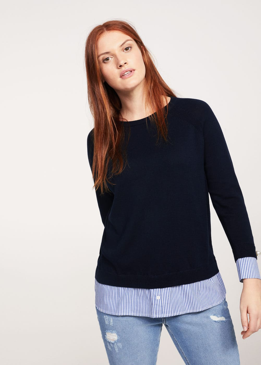 Shirt hem sweater  | VIOLETA BY MNG