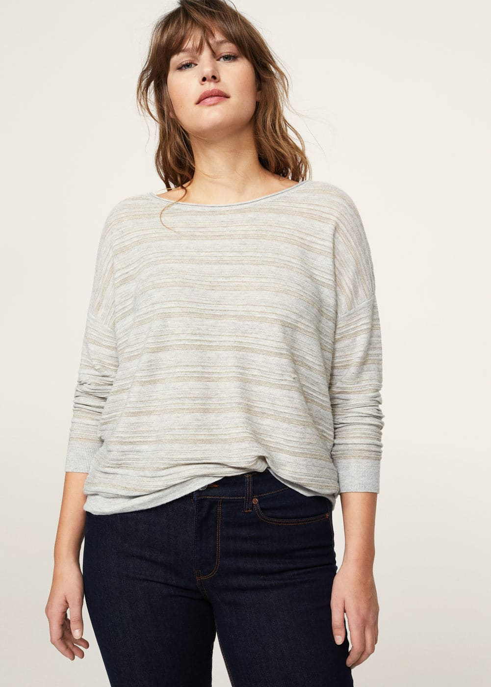 Lurex stripes sweater | MANGO