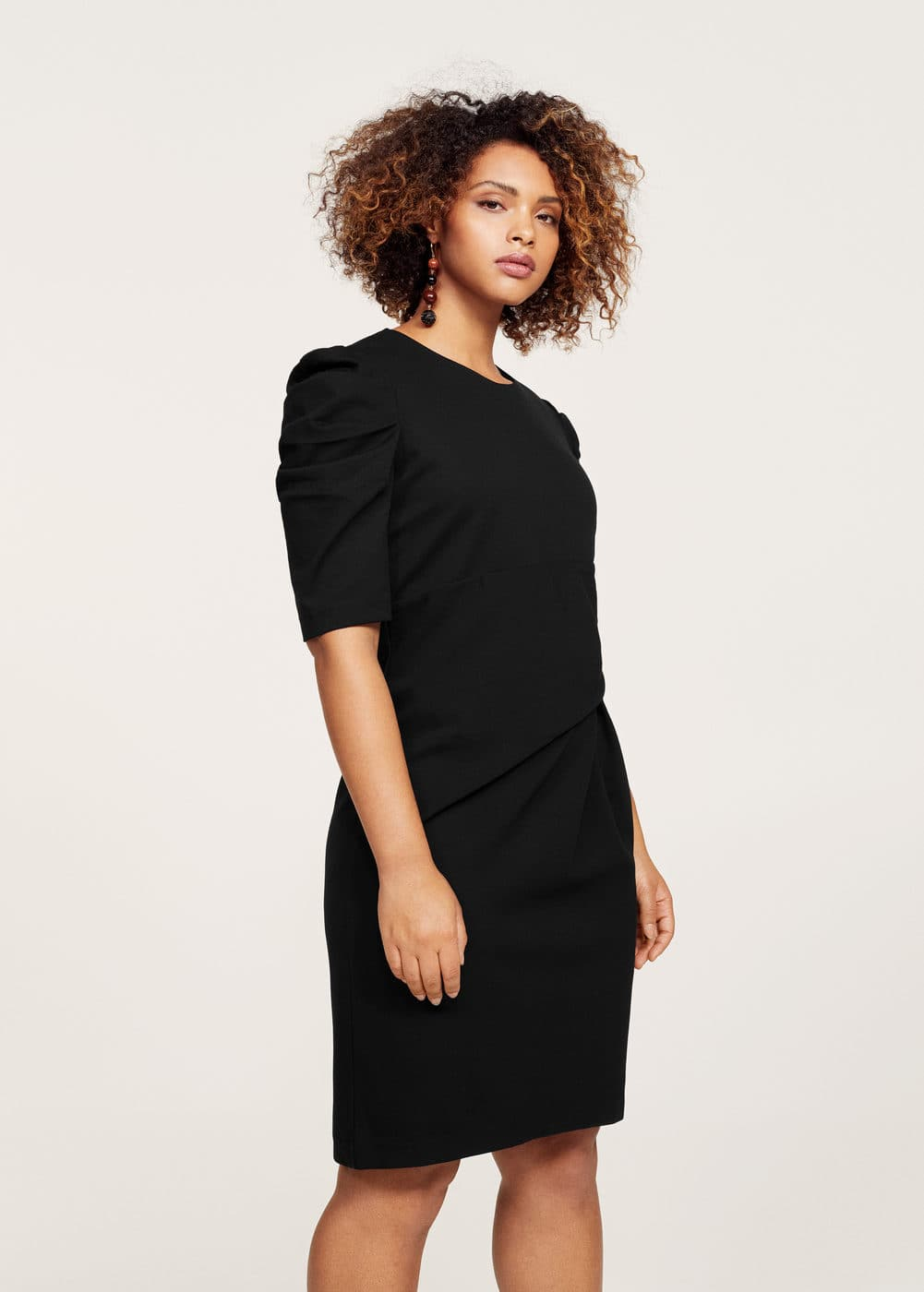 Gathered details dress | VIOLETA BY MANGO