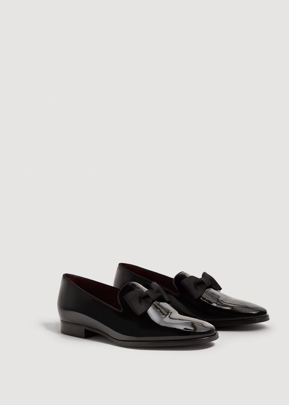 Bow leather slippers | MANGO
