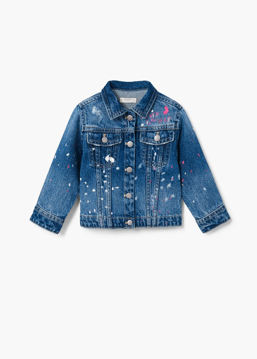 Paint denim jacket  | MANGO