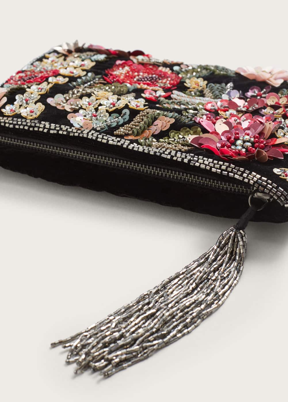 Floral appliqués clutch | VIOLETA BY MANGO
