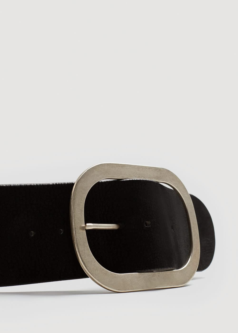 Maxi buckle leather belt | MANGO