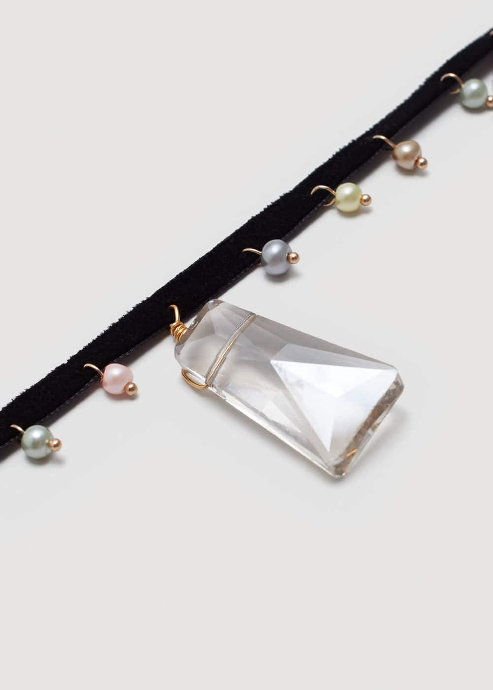 Crystal bead necklace | MANGO