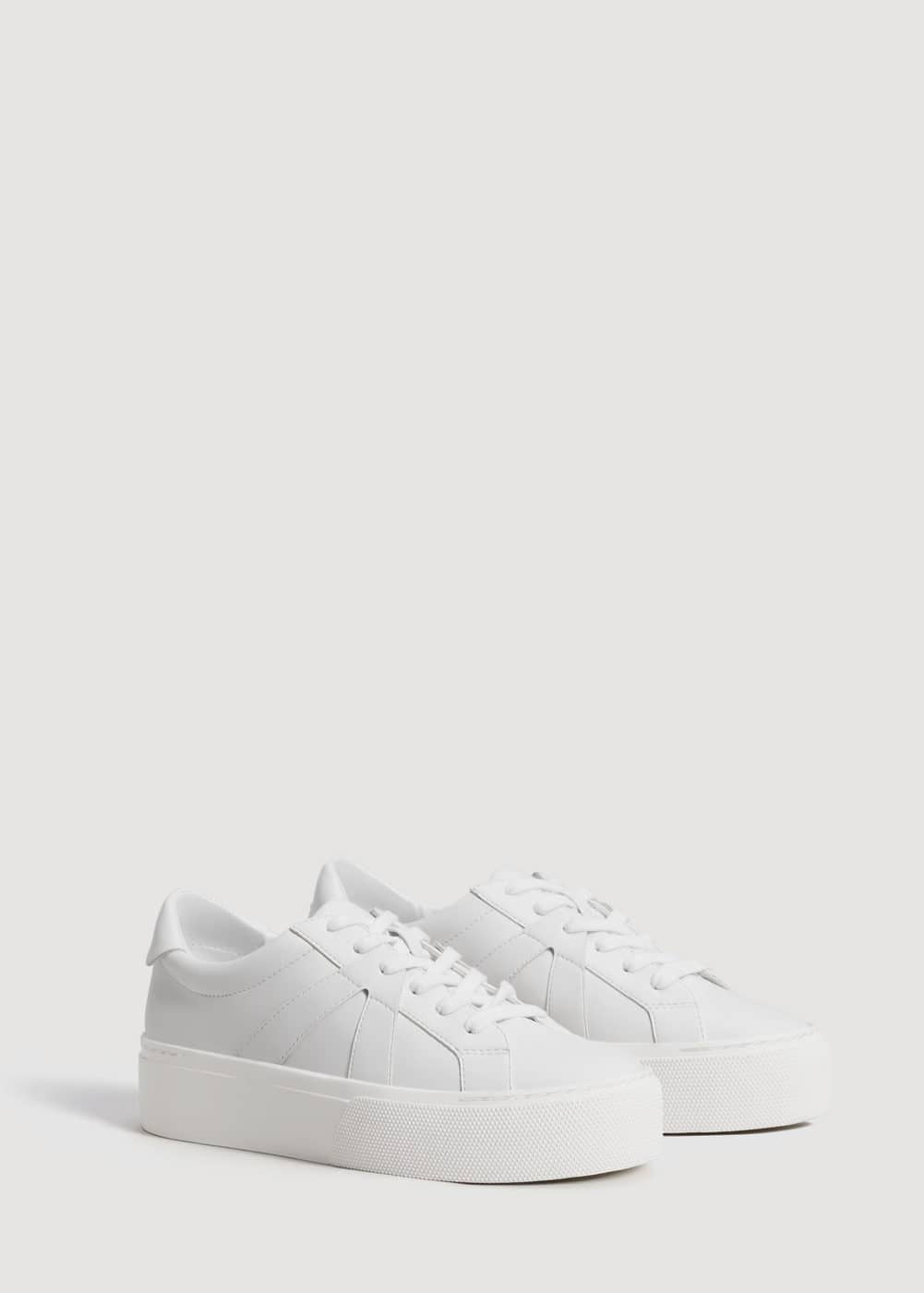 Platform lace-up sneakers | MANGO
