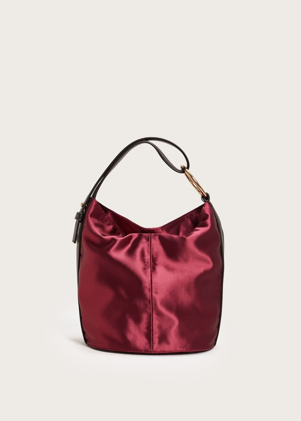 Satin hobo bag | VIOLETA BY MANGO