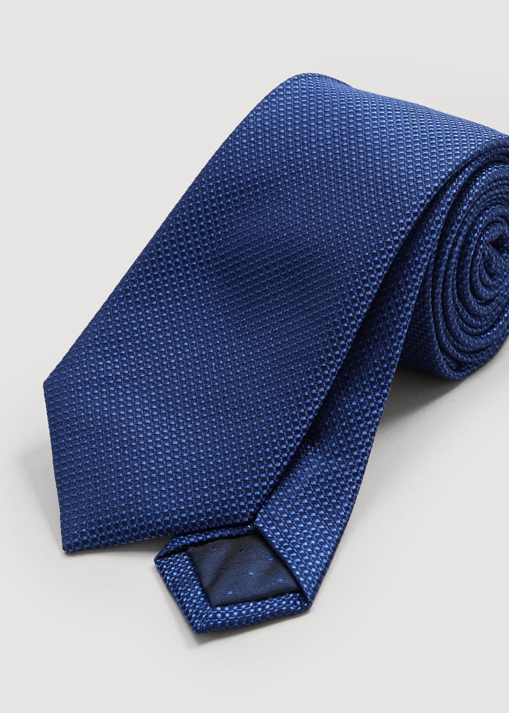 Textured silk tie | MANGO MAN