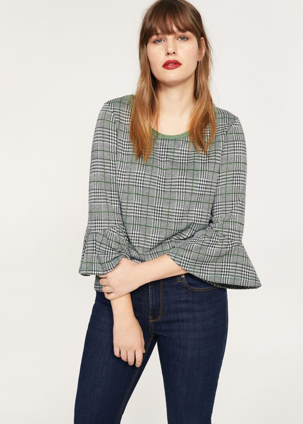 Prince of wales blouse | VIOLETA BY MANGO