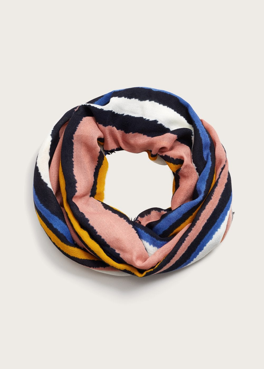 Multicolor striped scarf | VIOLETA BY MANGO