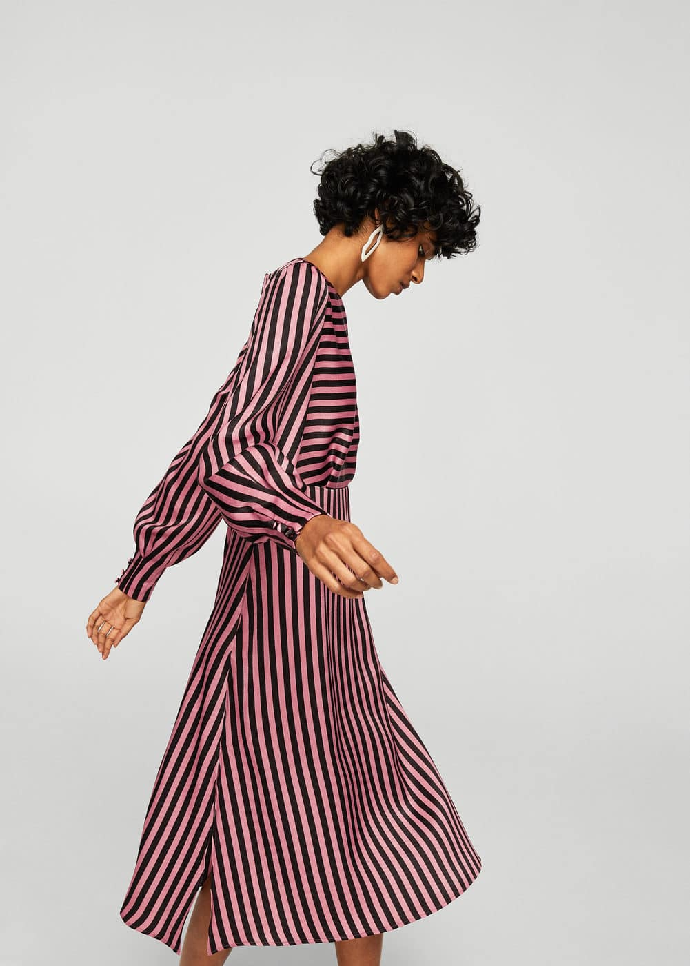 Striped midi dress | MANGO