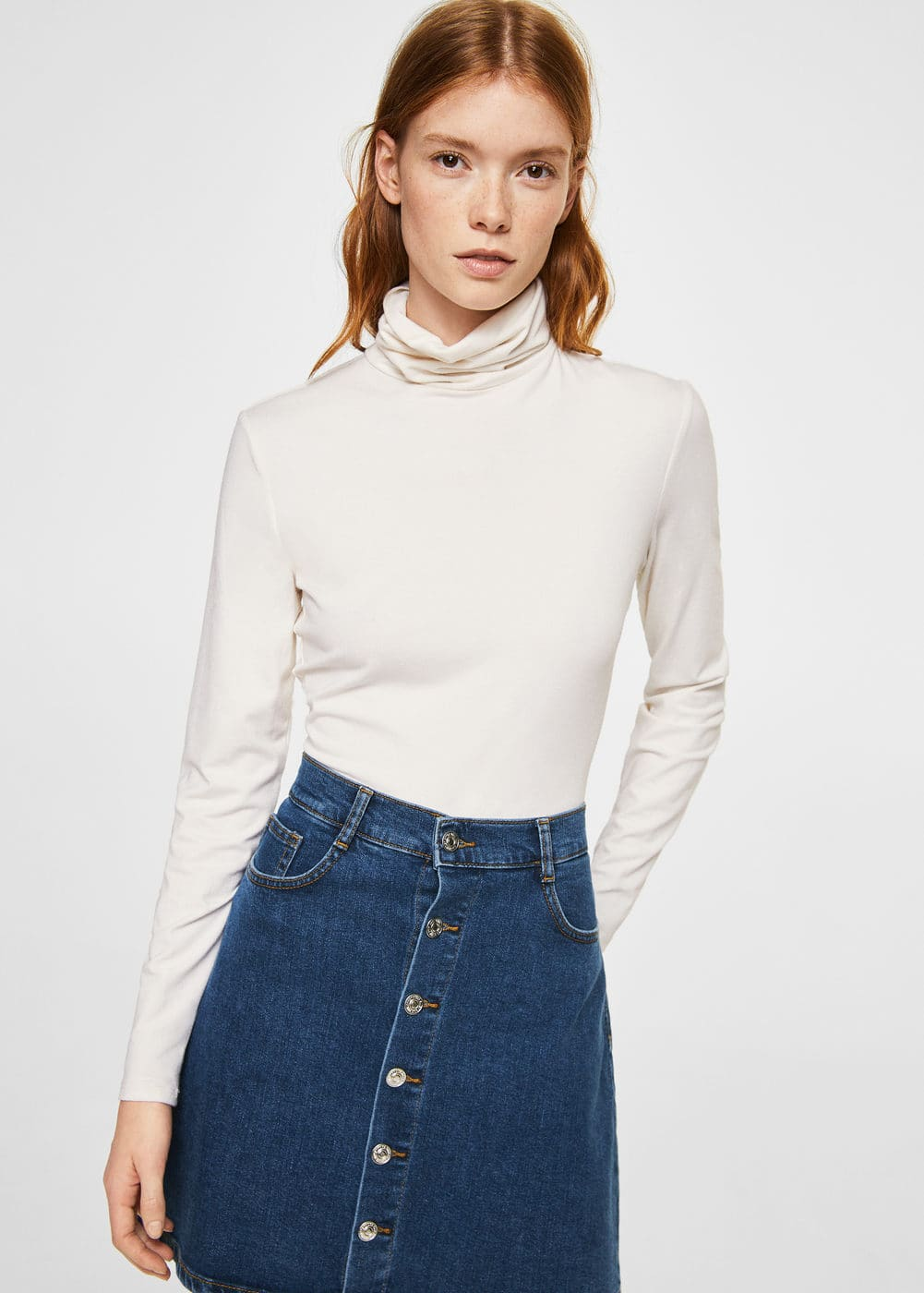 Buttoned denim skirt | MANGO