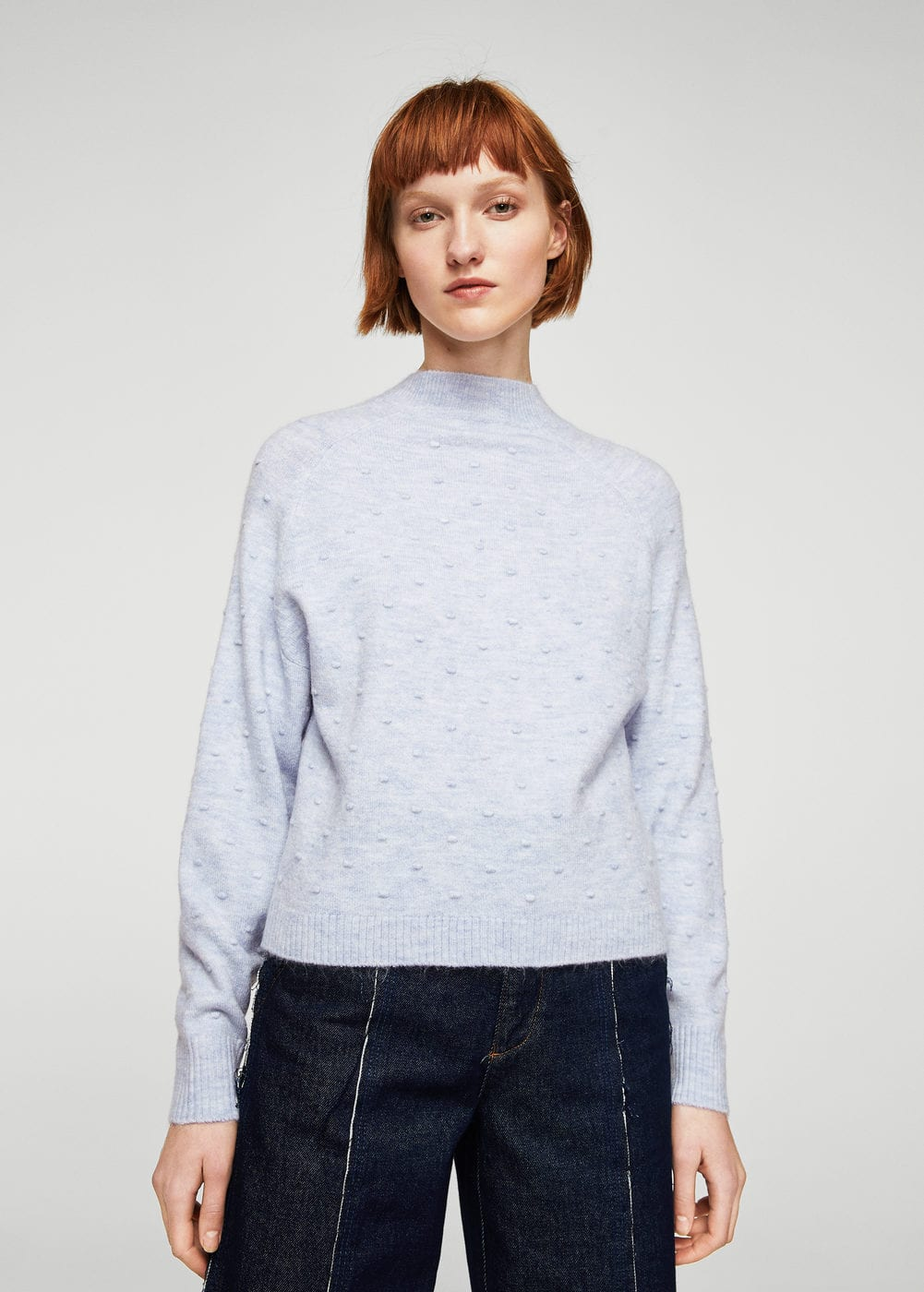 High collar sweater | MANGO