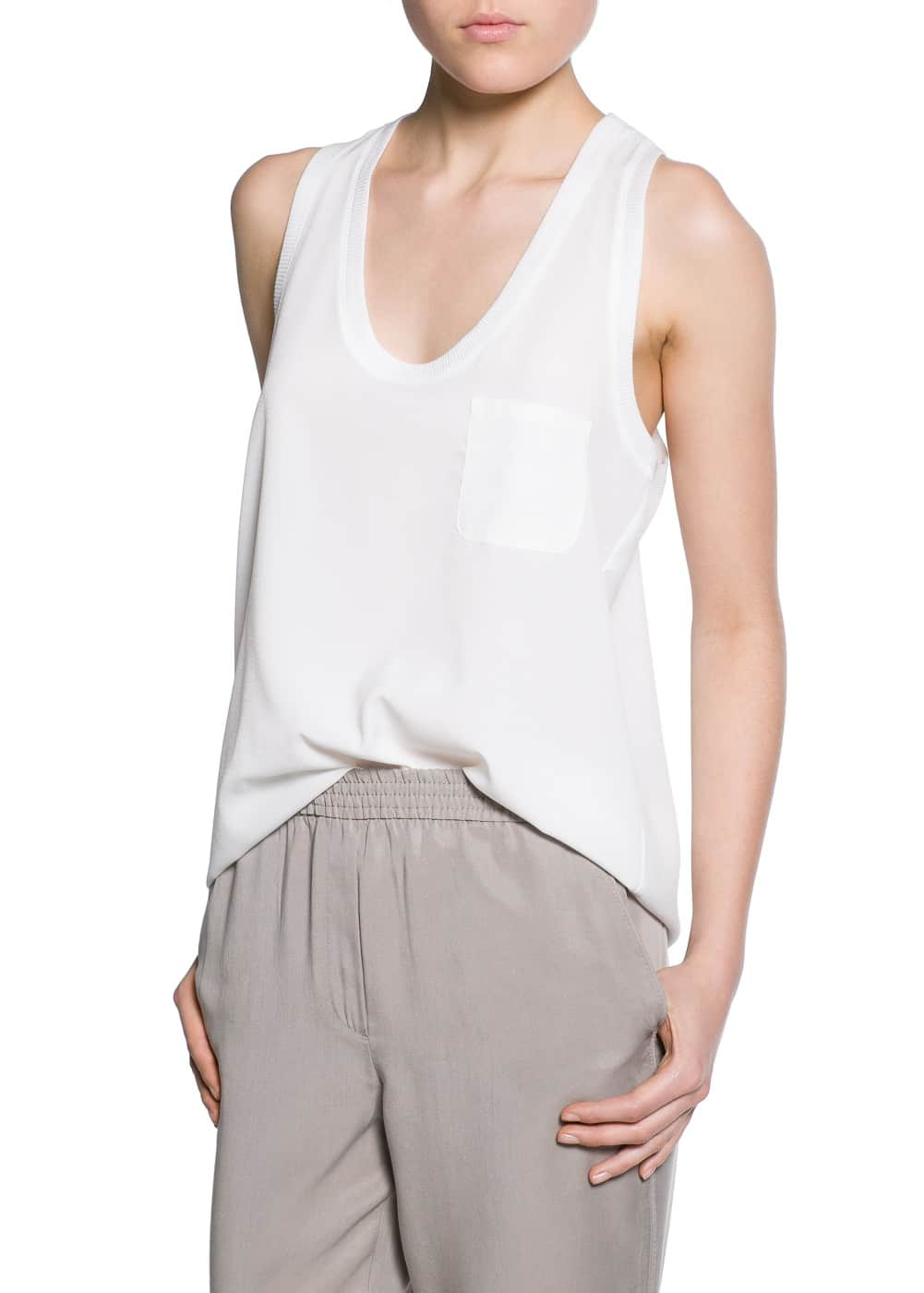 Ribbed edge top | MANGO