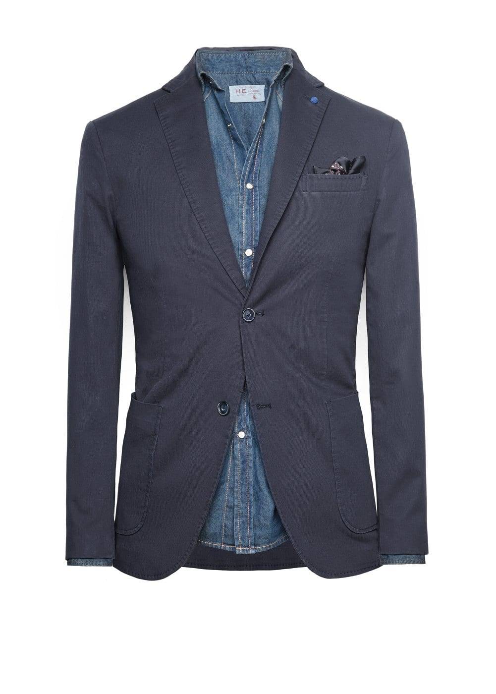 Slim-fit stripe textured blazer | MANGO