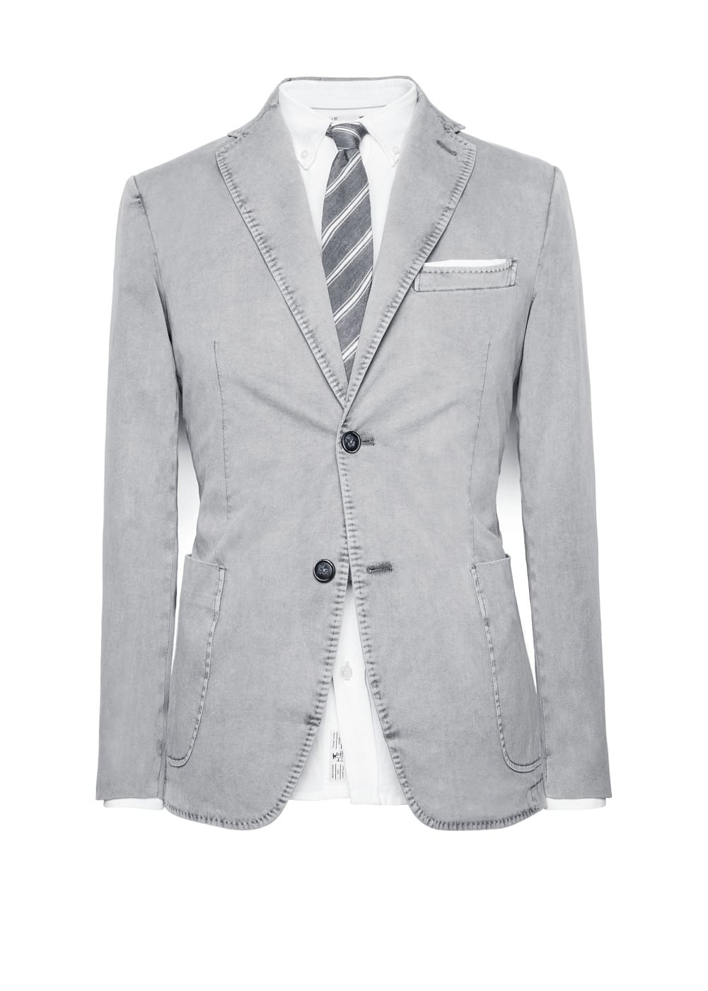 Washed cotton blazer | MANGO MAN