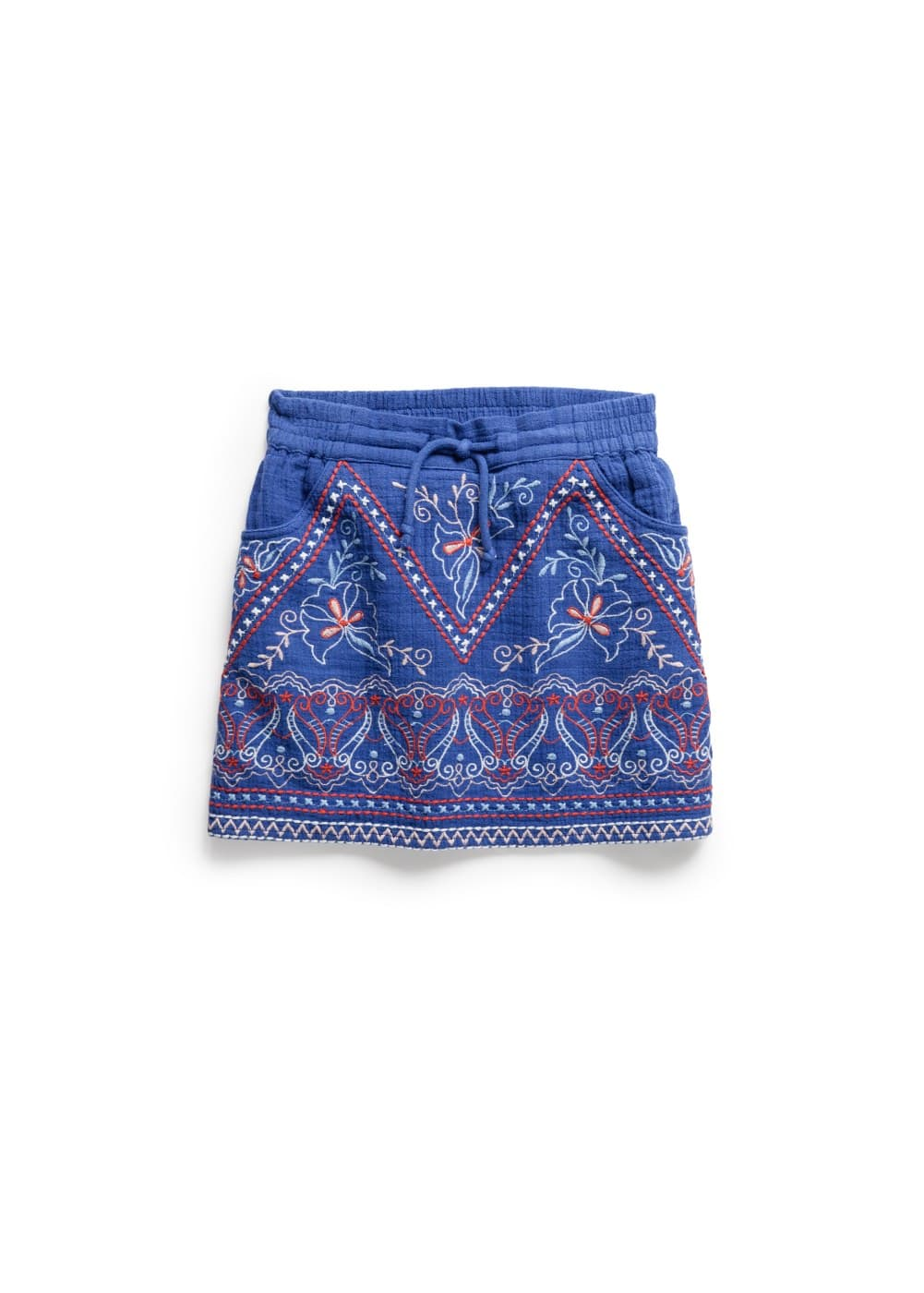 Cotton embroidered skirt | MANGO
