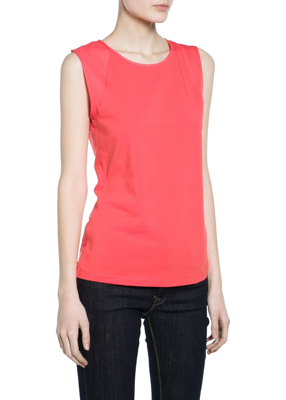 Chiffon panel top | MANGO MAN