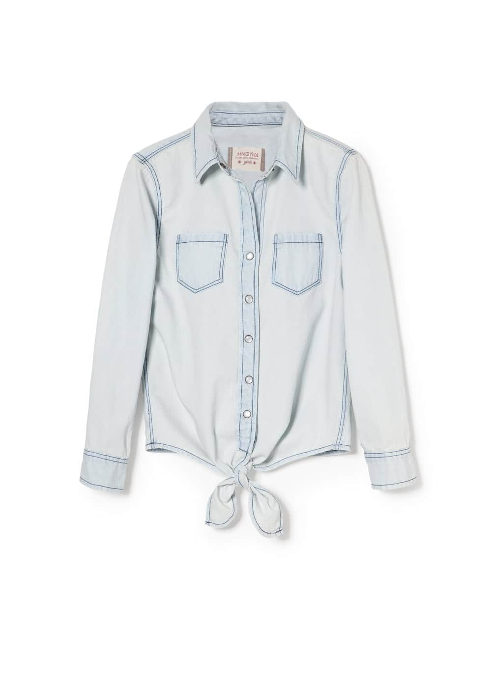 Knot denim shirt | MANGO KIDS
