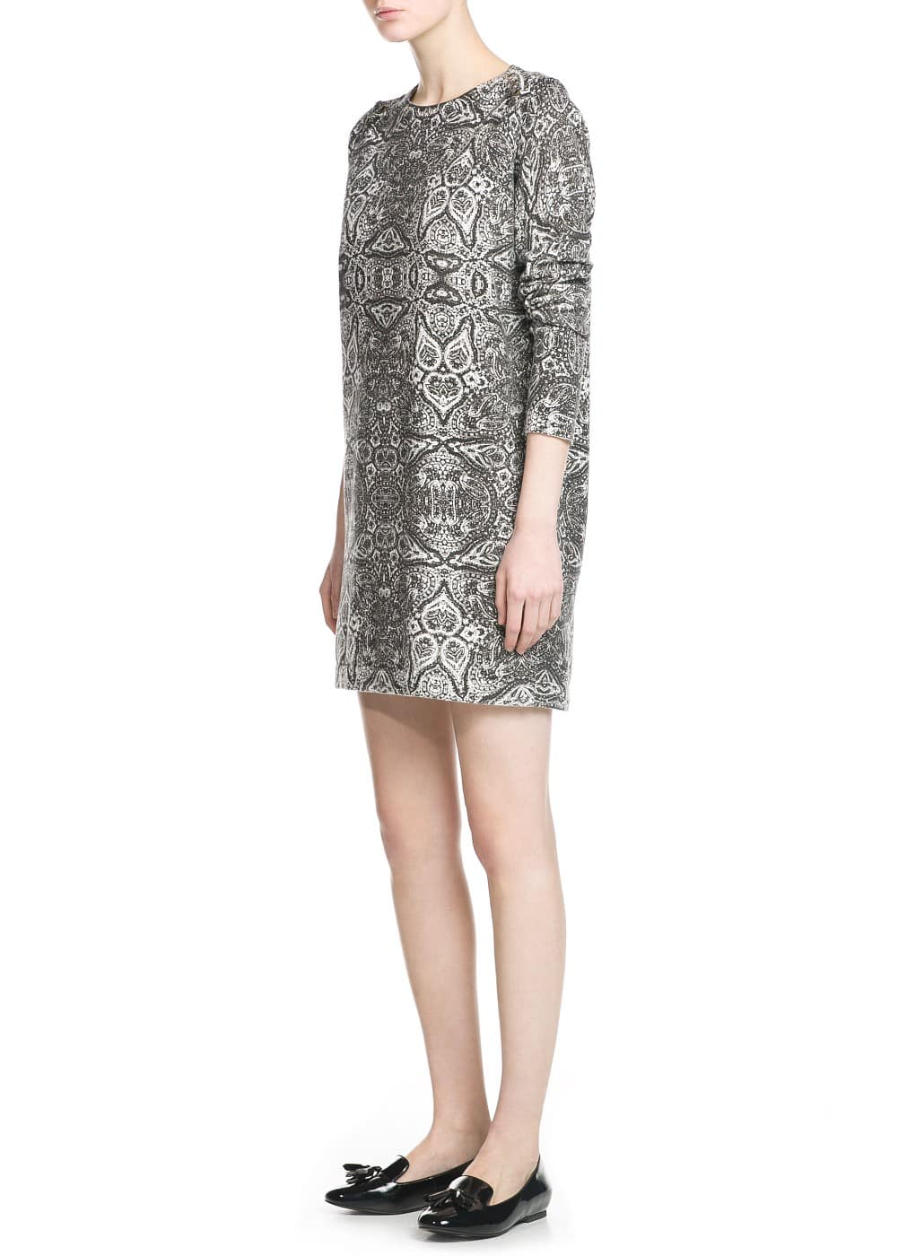 Baroque print dress | MANGO