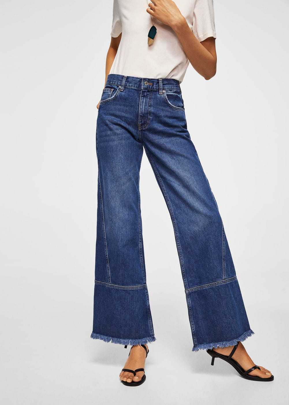 Jeans relaxed desflecados | MNG