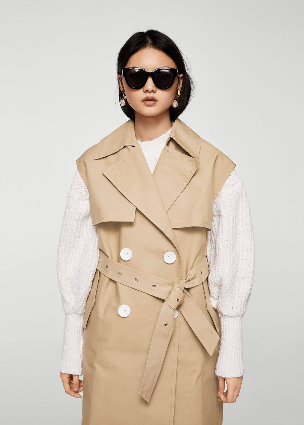 Chaleco trench botones | MNG