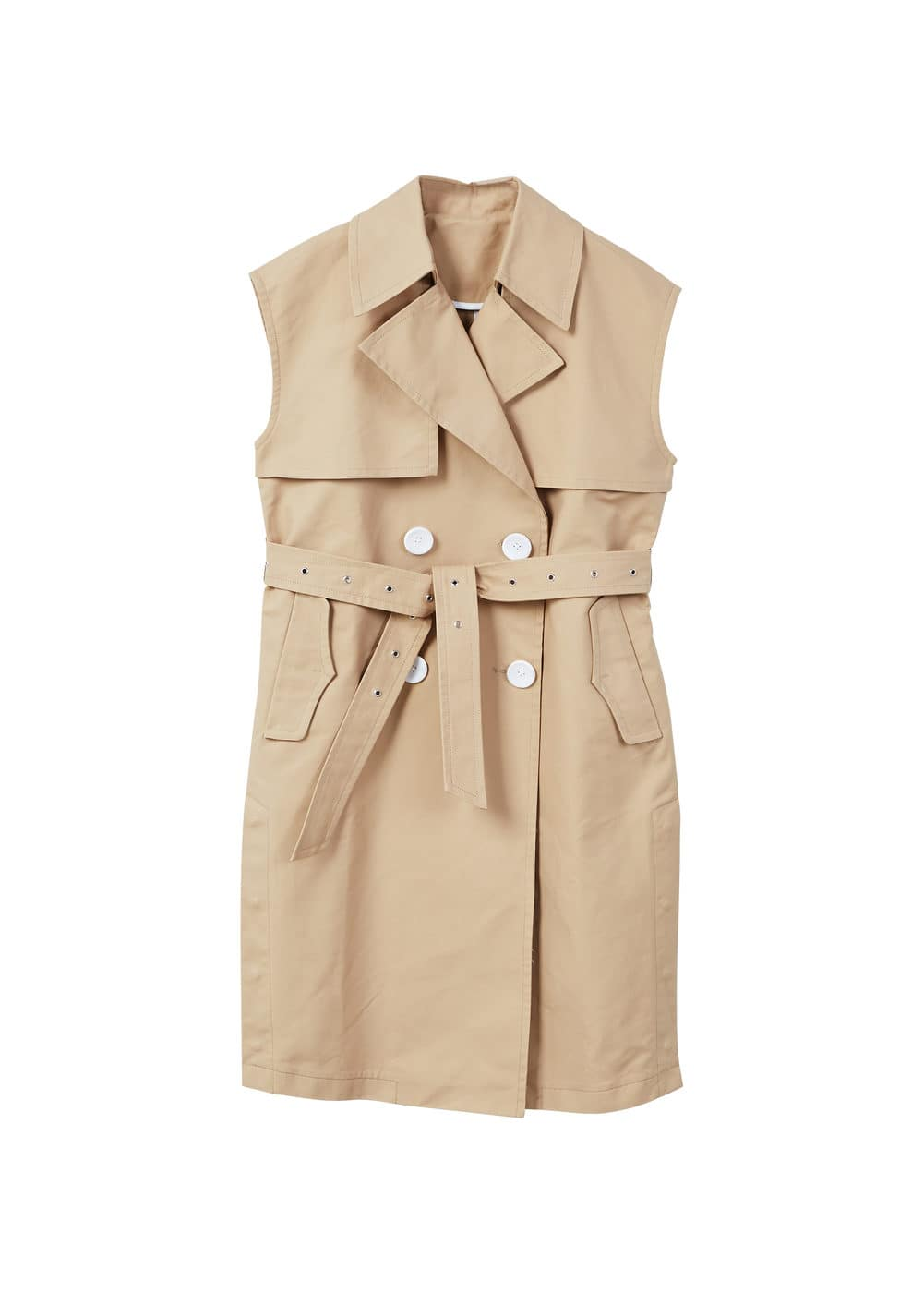 Image result for Buttons trench waistcoat mango