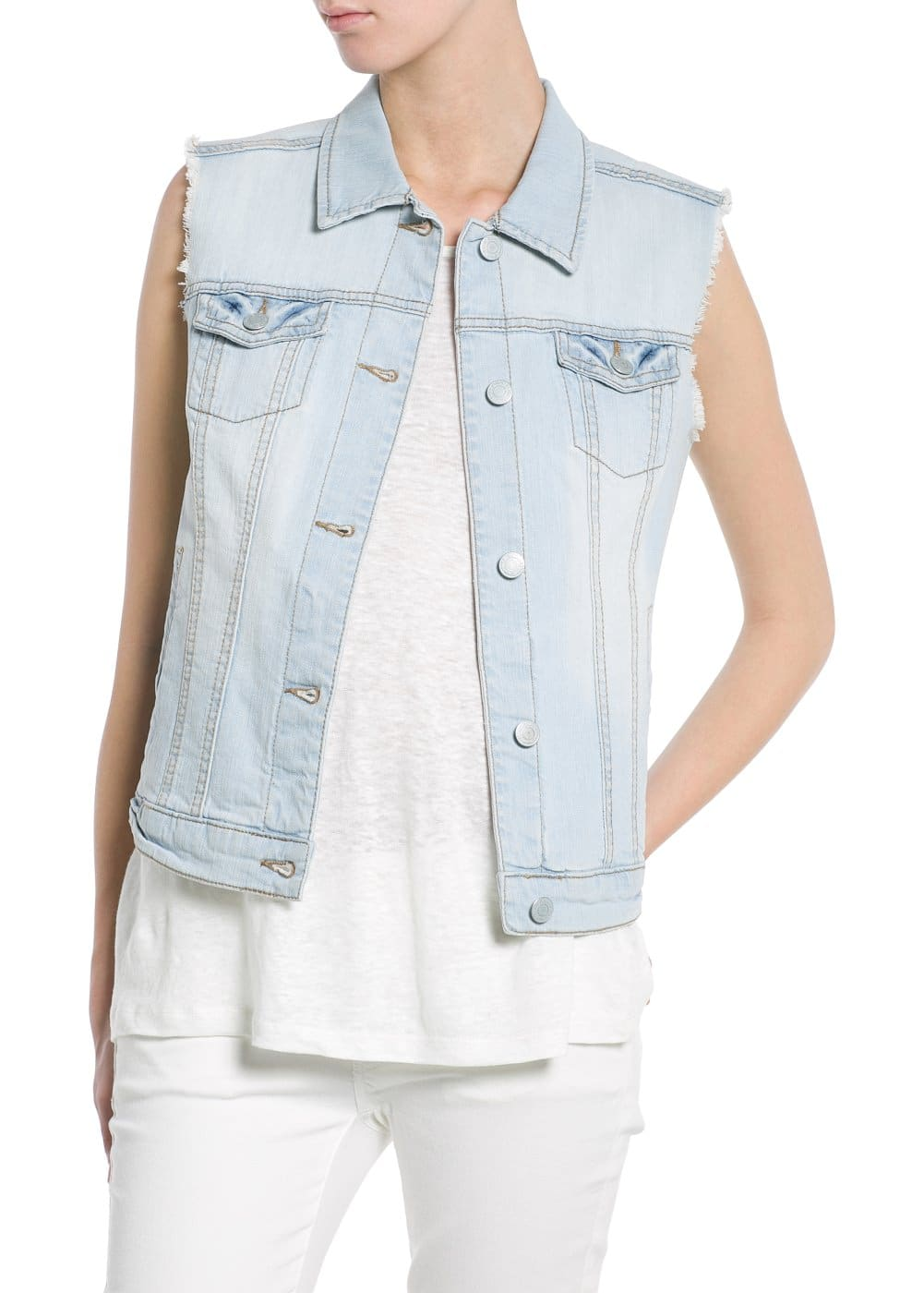 Gilet denim bleach | MANGO