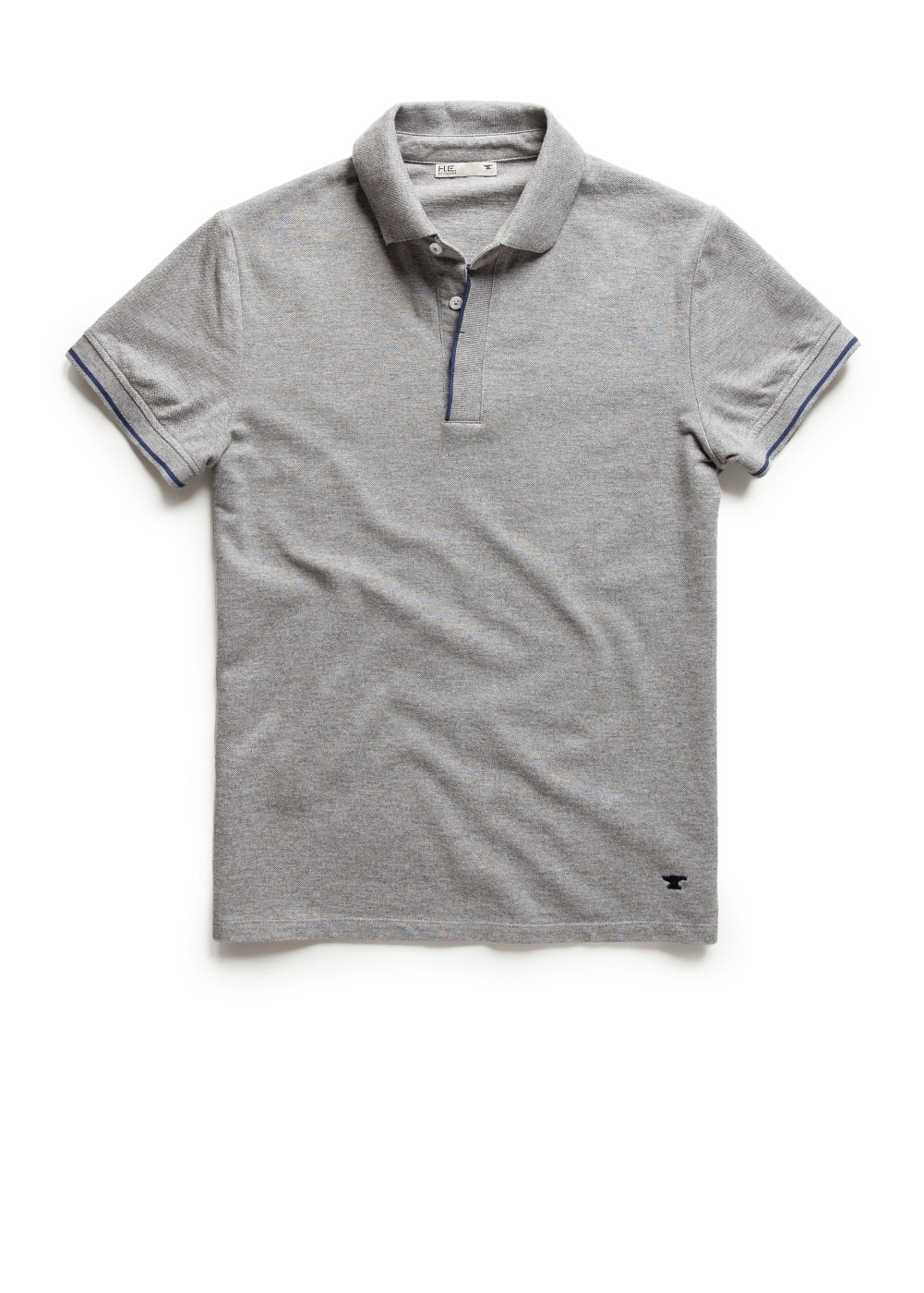 Contrast trim polo shirt | MANGO