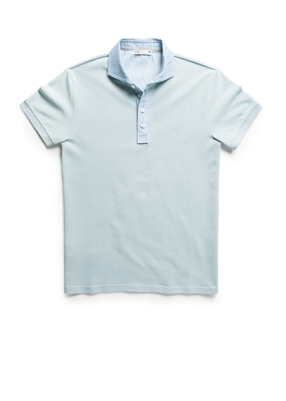 Shirt collar polo shirt | MANGO MAN