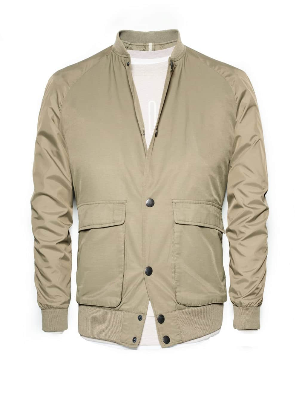 Cotton nylon-blend bomber jacket | MANGO