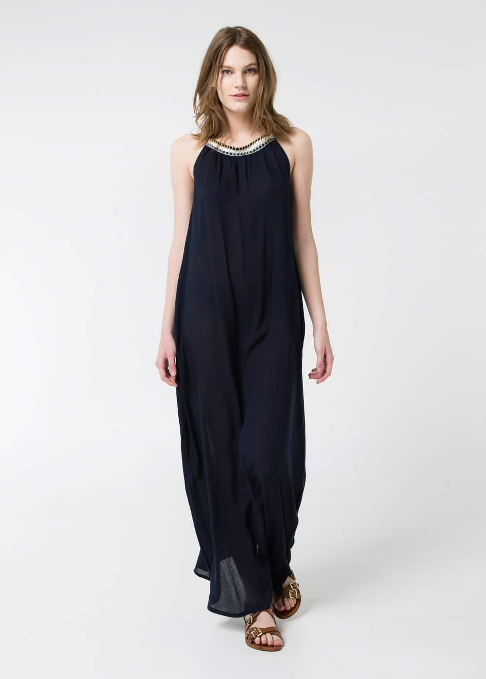 Halter long dress | MANGO