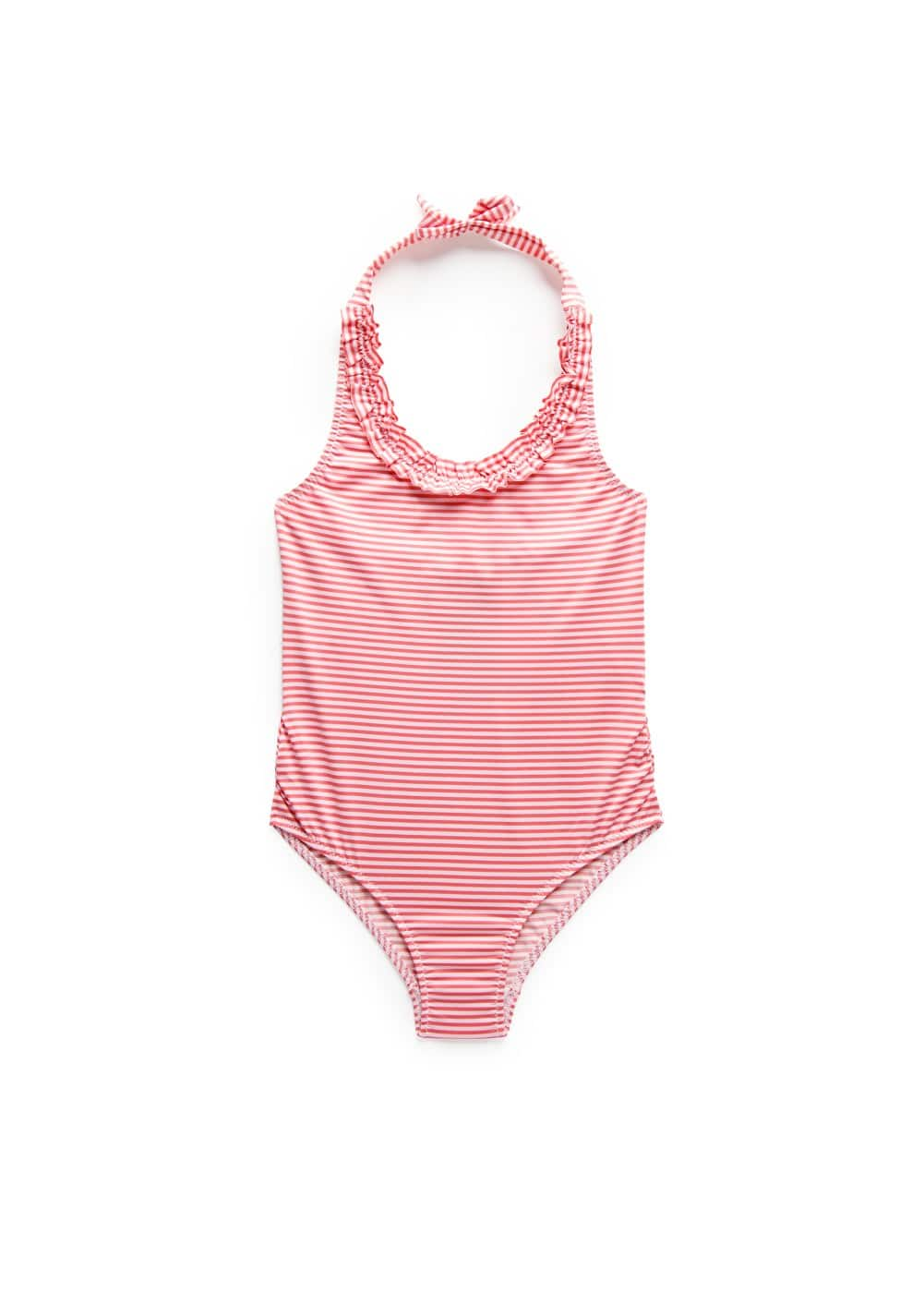Ruffle striped swimsuit | MANGO