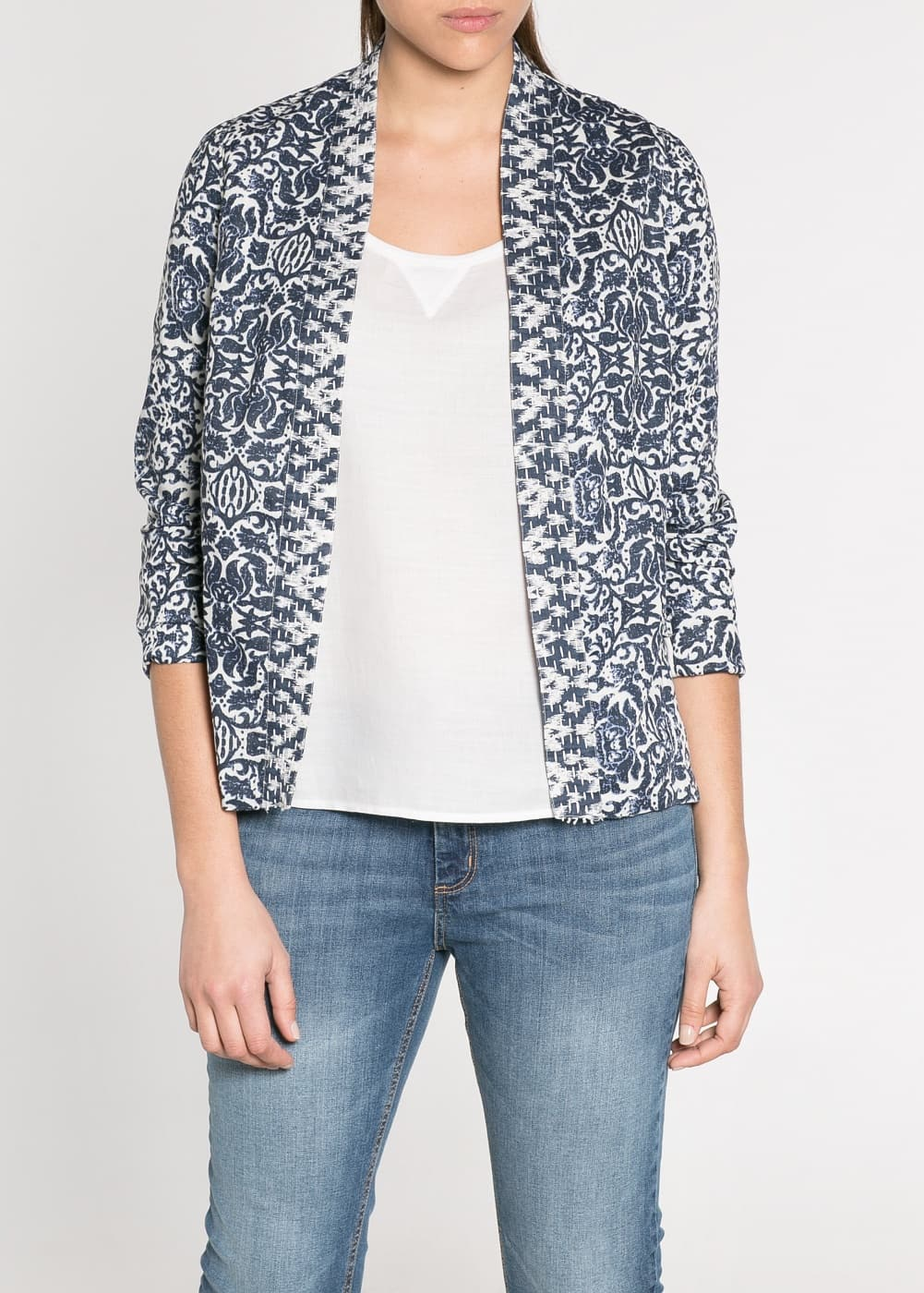 Stitch printed jacket | MANGO