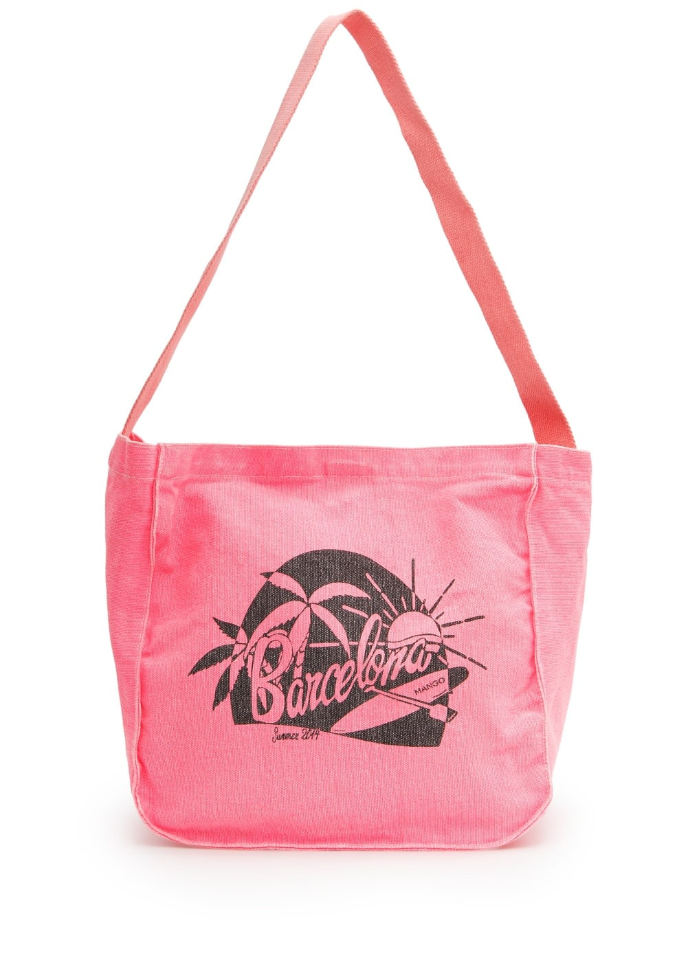 Neon canvas bag | MANGO