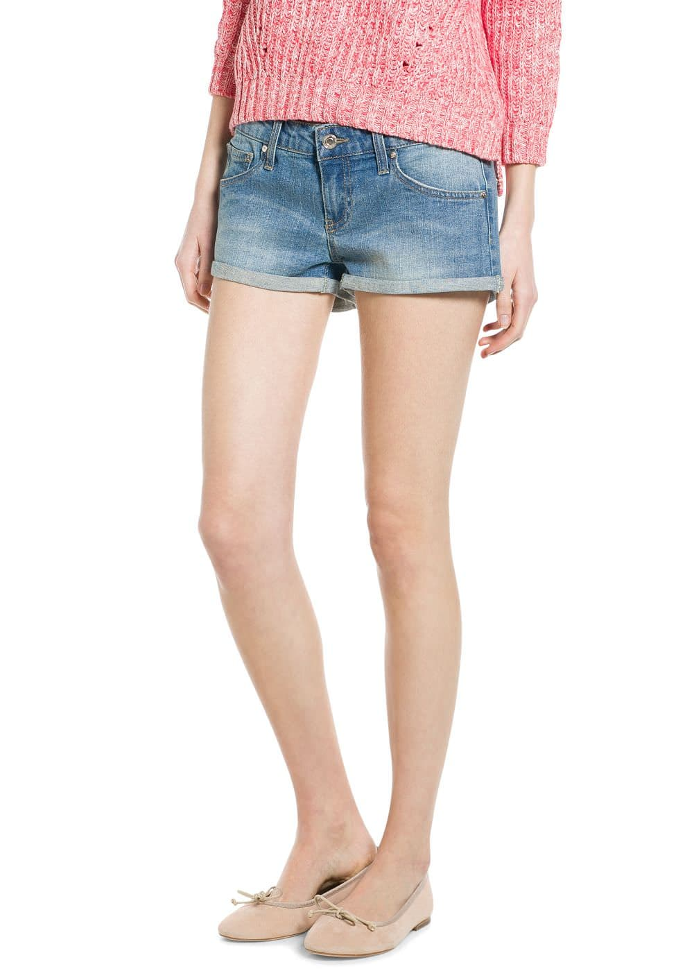 Medium denim shorts | MANGO