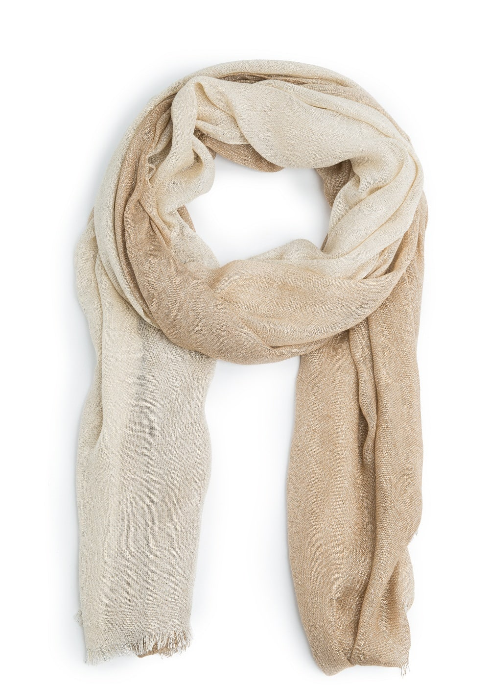 Metal thread scarf | MANGO