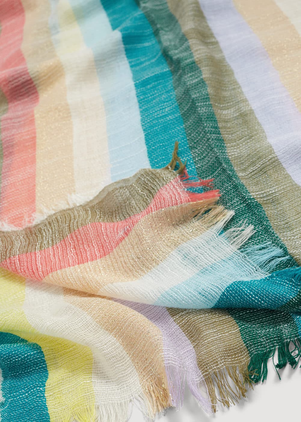 Metallic detail scarf | MANGO