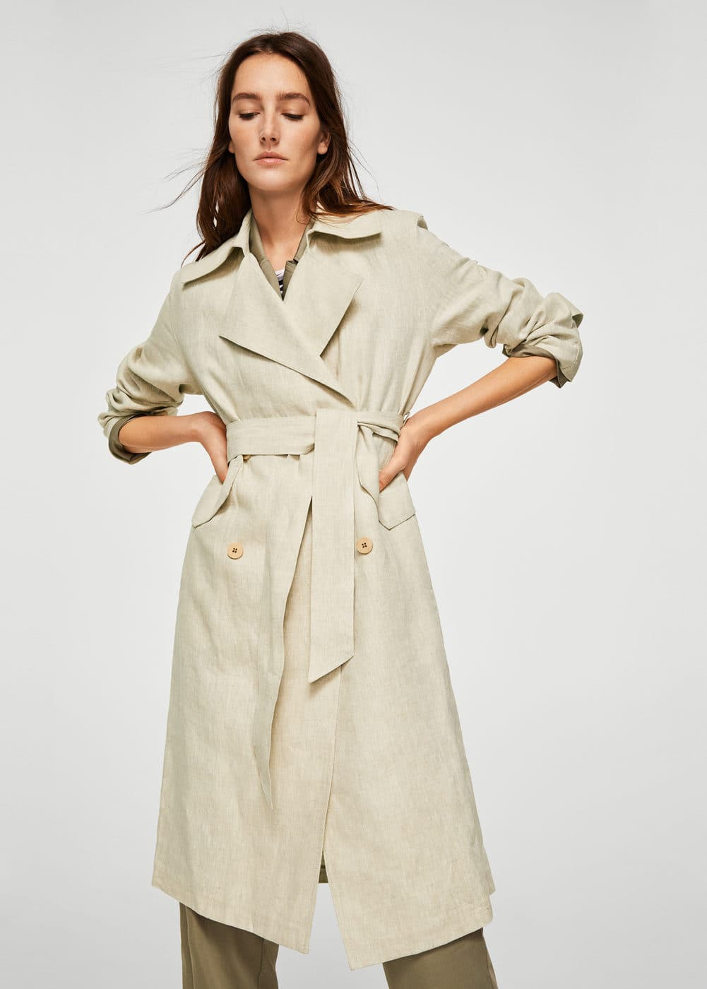 Linen trench | MNG