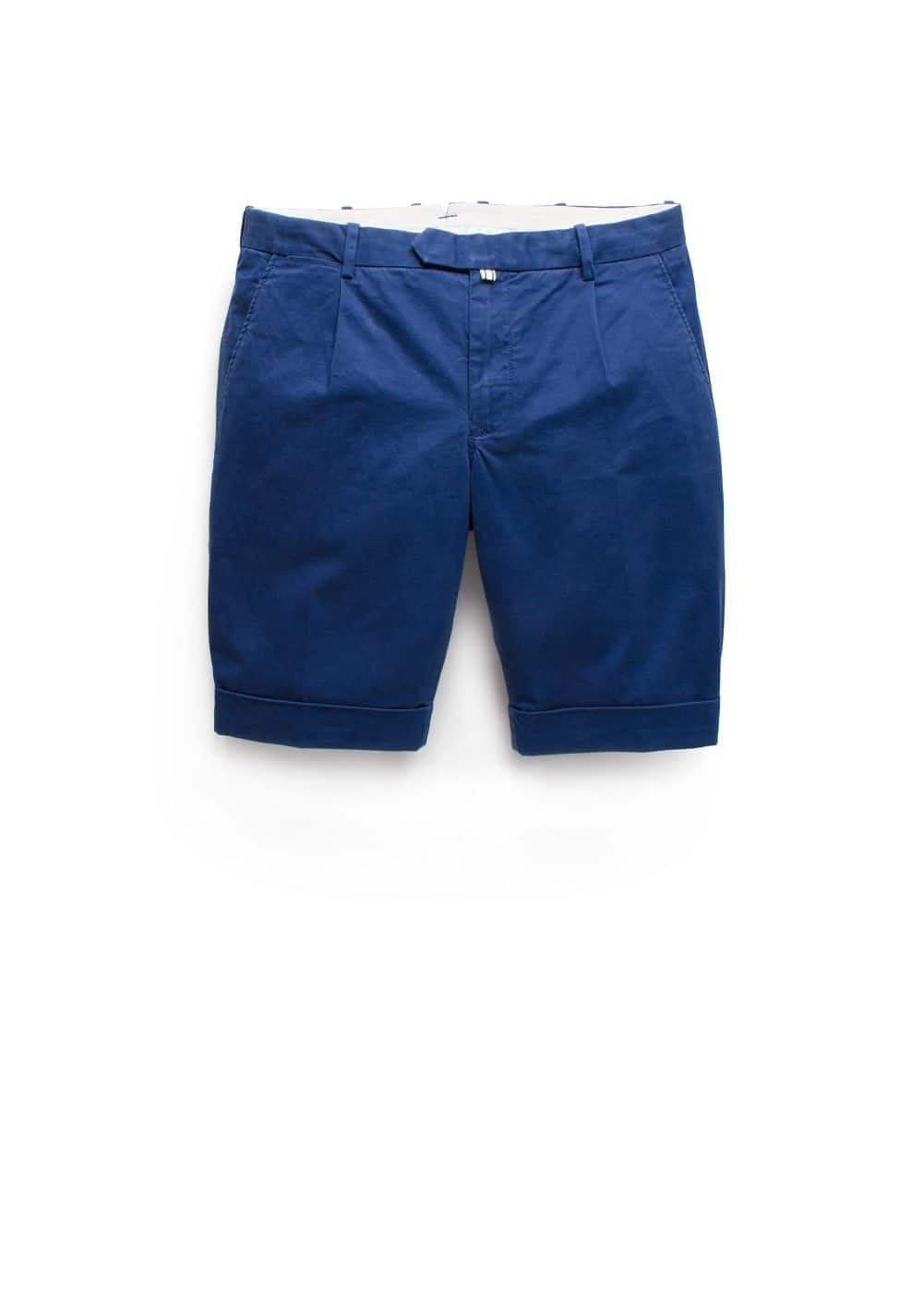 Rolled-up hem cotton bermuda shorts | MANGO