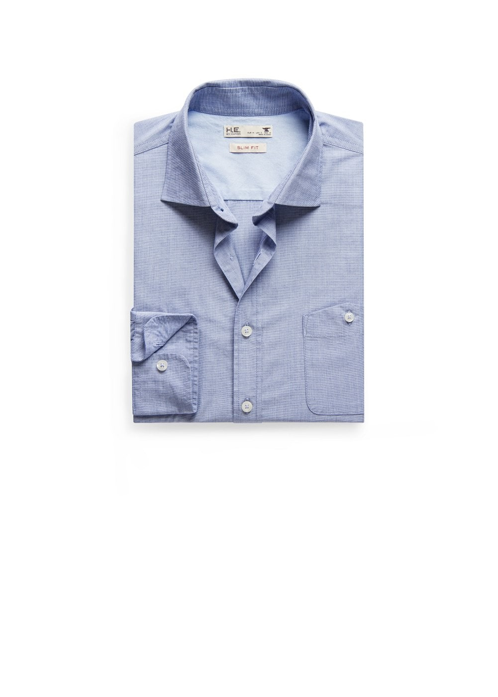Slim-fit end-on-end shirt | MANGO