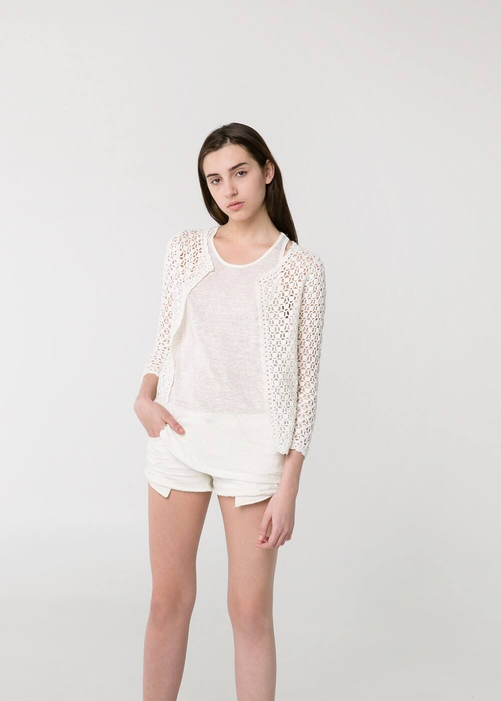 Open-knit cardigan | MANGO