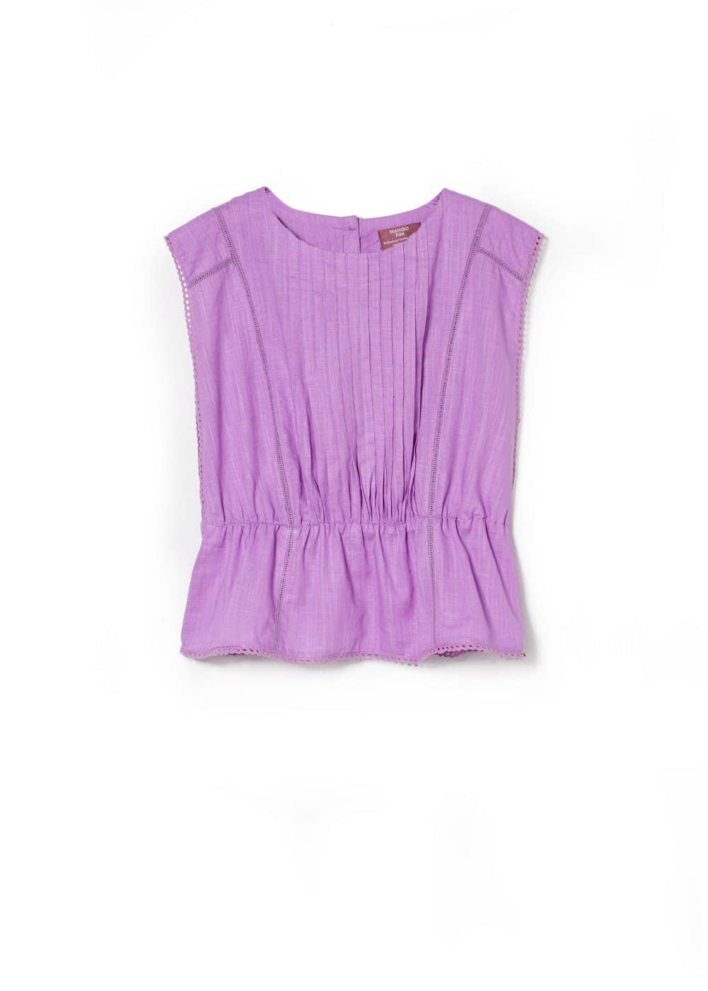 Crochet trim blouse | MANGO KIDS