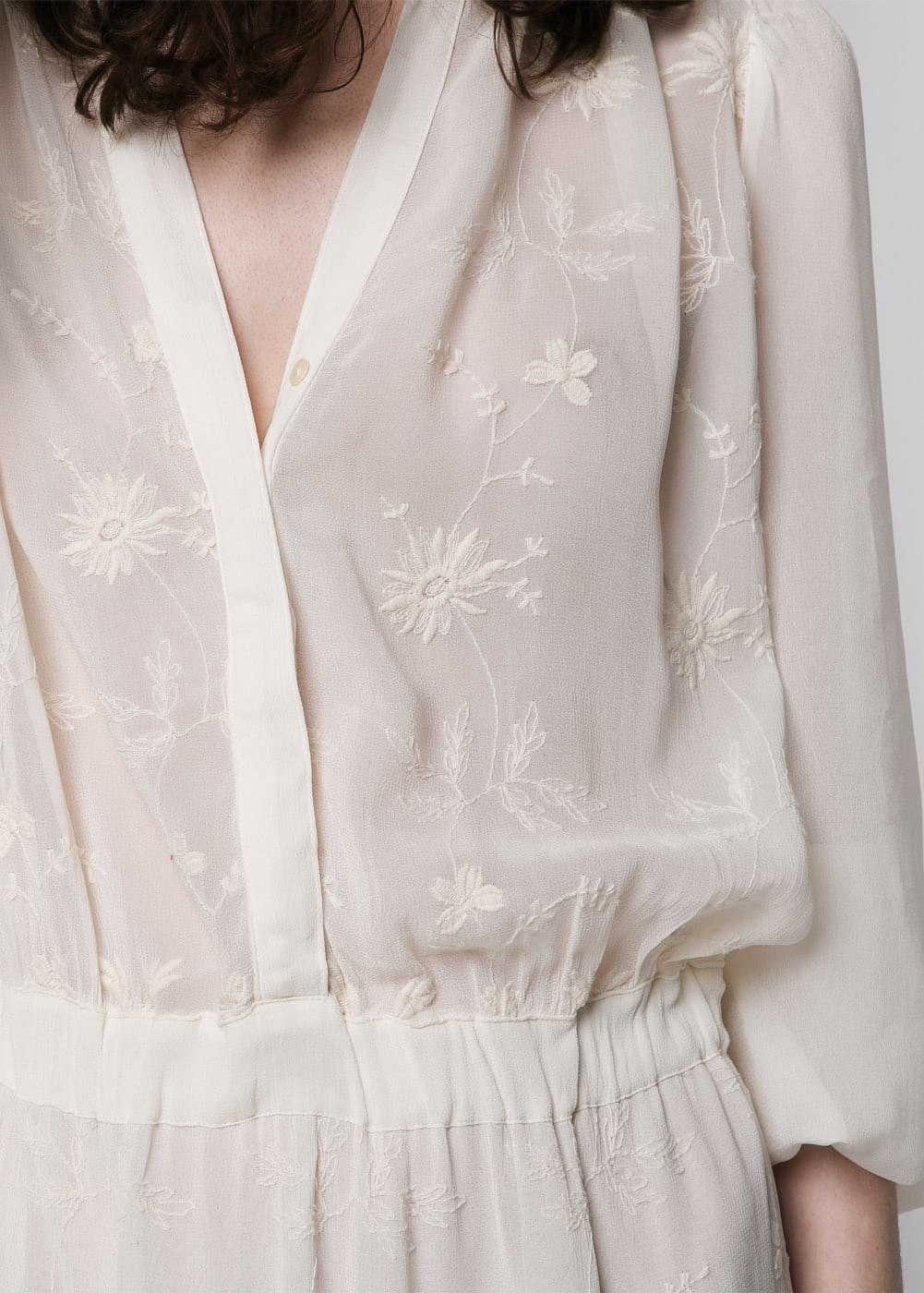 Floral embroidered dress | MANGO
