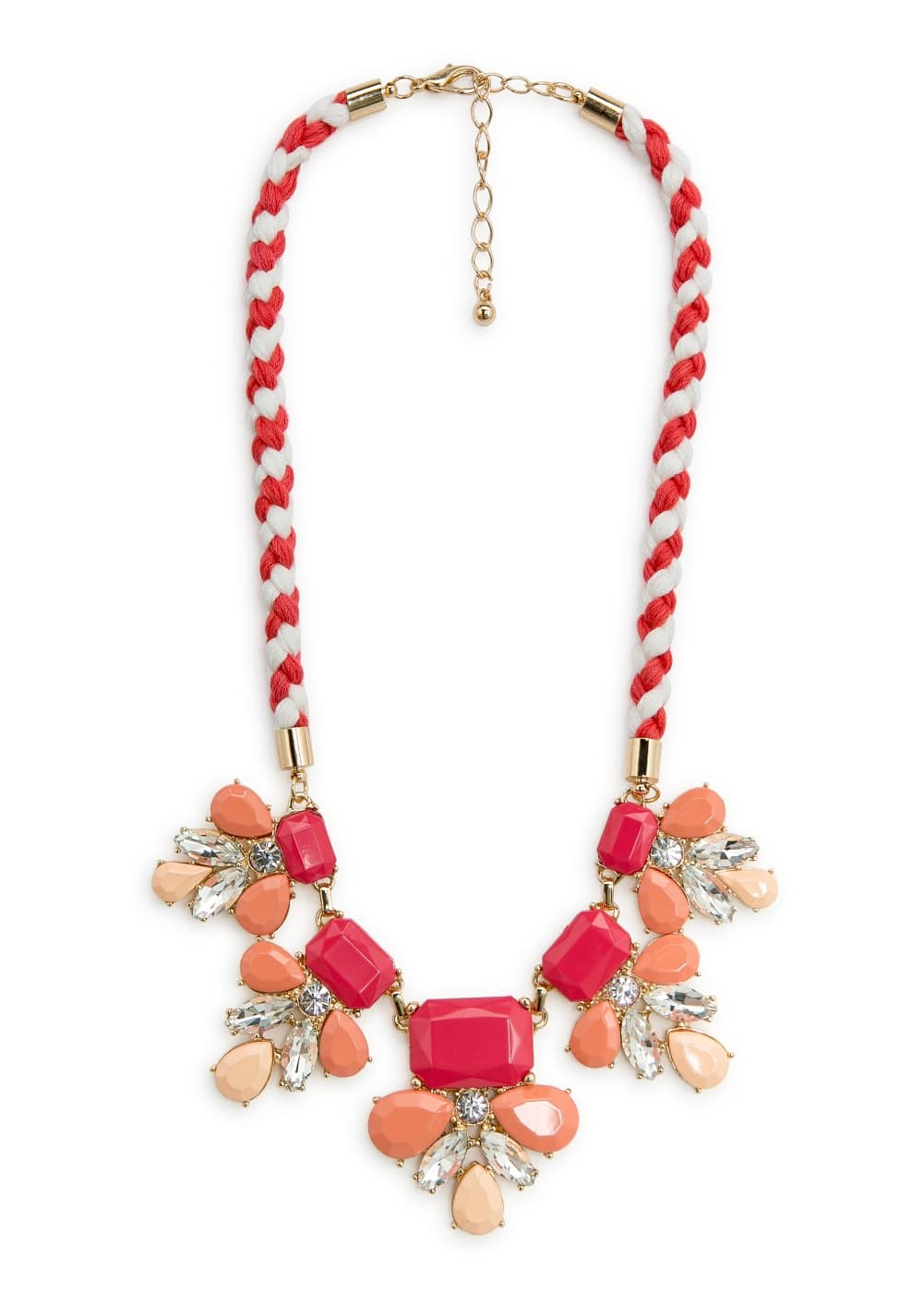 Flower crystal necklace | MANGO