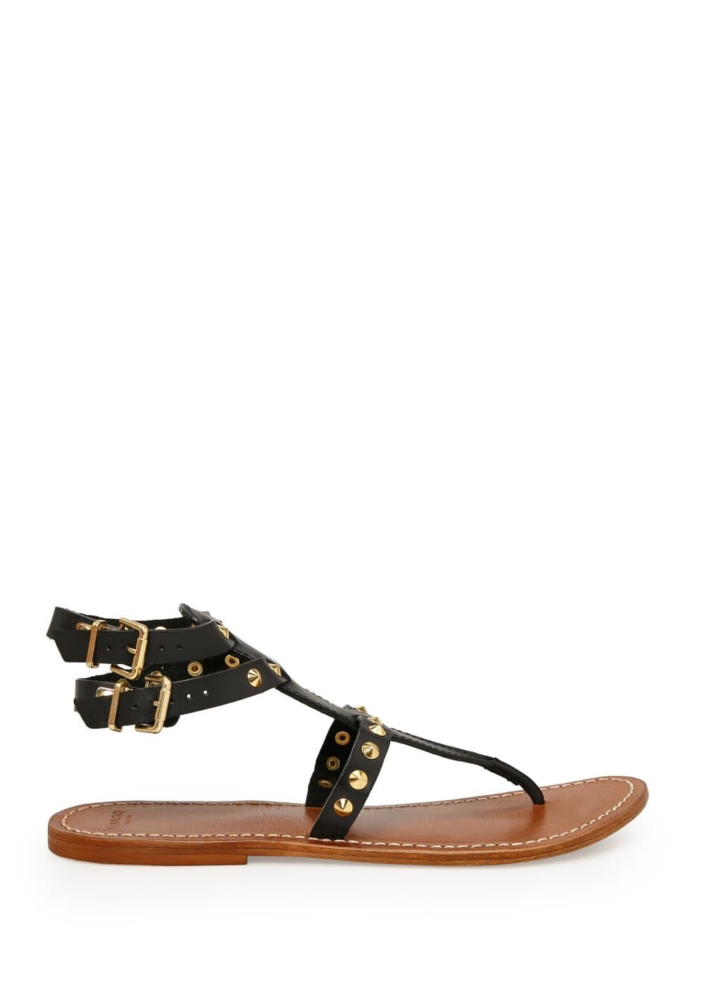 Spike leather sandals | MANGO