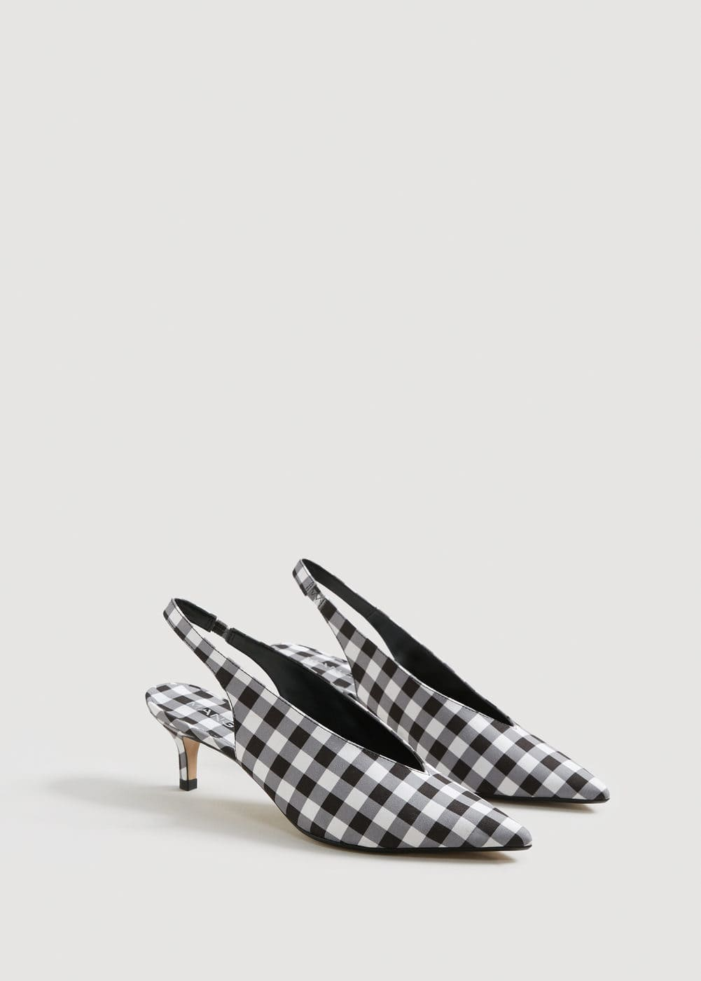 Slingback Checked Shoes by Mango